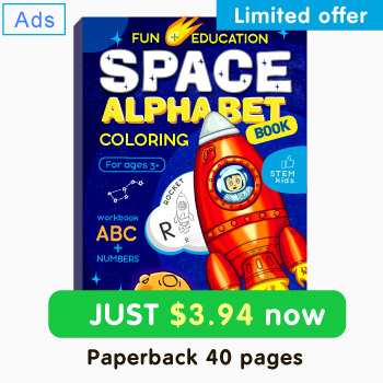 Space colorng book for kids