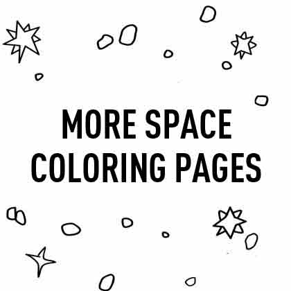 Love Space coloring pages for kids | Picture of Space with letters and planets coloring pages for kids