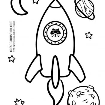 Printable rocket ship coloring page for kids | Space and rocket Spaceship - space coloring pages small preview
