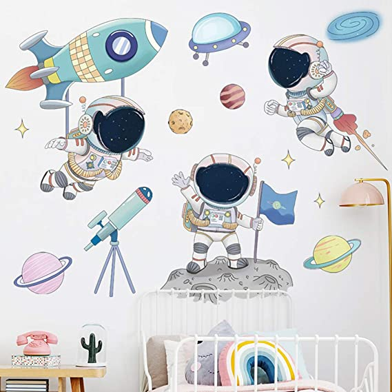 Space themed decor for walls Outer space themed bedroom Nursery